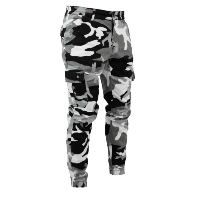 2019 Men's Casual Camouflage Jeans Stripe Gray Jean Fashion Skinny Pencil Pants Hip Hop Style Trousers Streetwear Pocket pants
