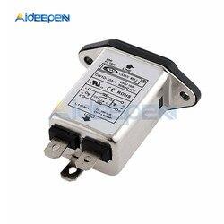 AC 115V-250V 10A 50/60Hz T-socket IEC Socket Panel Mount Power Line EMI RFI Filter CW1D-10A-T Suppressor Power Line Noise Filter