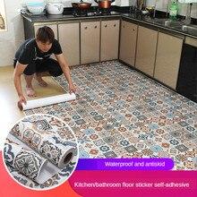 Boden aufkleber selbst-adhesive bad boden aufkleber küche fliesen aufkleber dekorative wasserdicht nicht-slip dicken verschleiß-beständig
