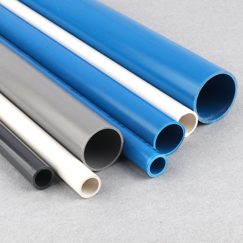 50cm Outside Dia20~40mm PVC Tube White/Blue/Grey UPVC Pipe Fitting for Garden irrigation PVC Connector image