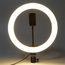 2-in-1 Design Mobile Phone Holder Selfie Ring Light Dimmable Lamp LED Circle Lights For Make Up Live Photography Vlogging Video
