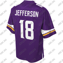 Jersey Minnesota Customized 4XL Stitch Youth Jefferson Kid Justin Purple Logo-Player