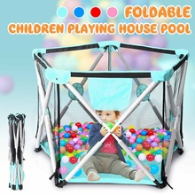 Tent Fence Playpen Dry-Ocean-Balls Foldable Children Baby Kids And for Indoor Safety