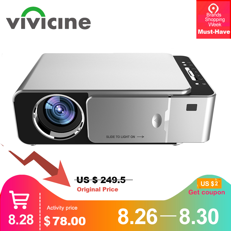 VIVICINE Projector-Optional Bluetooth-Support V200 Wifi Theater Android 7.1 HDMI Lcd Home