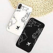 Coque de protection souple pour iPhone, compatible modèles 6, 7, 8 Plus, 11 Pro, XR, XS Max, dessins d'avion populaires