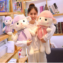 35cm down cotton bow tie wool toy pillow cartoon cute sheep doll children birthday gift baby