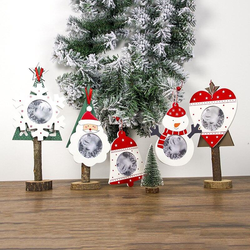 19 креативных рождественских орнаментов, деревянная рамка для фотографий для детей, детское украшение для фотографий, рождественские украш...