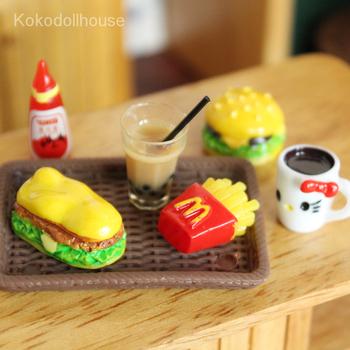 1 zestaw 1 6 śliczne Mini Hamburger miniaturowy domek dla lalek Fast Food dla Blyth lalka barbie dom Play kuchenna kawa akcesoria do kubków zabawka tanie i dobre opinie Kokodollhouse Z żywicy Zestaw zabawek kuchennych Not real only for pretend play Unisex 6 lat Jedzenie KD001