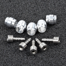 10 Bicycle Bike Olive Insert Connectors For AVID SRAM 5mm Hydraulic Brake Hose Aluminum alloy Bicycle Accessories avid sram