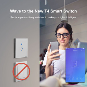 Image 4 - SONOFF T4EU1C Wifi Wall Touch Switch 1 Gang EU No Neutral Wire Required Switches Smart Single Wire Wall Switch Works With Alexa