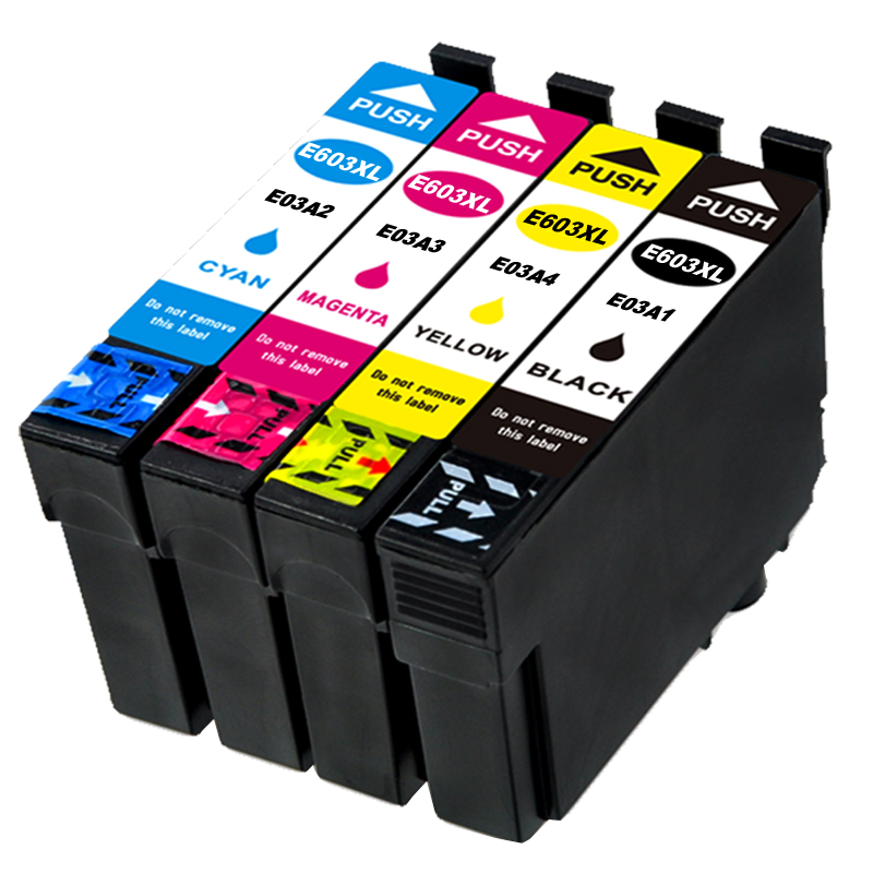4Pac (1B+1C+1M+1Y) E603XL Compatible Ink Cartridge For EPSON XP-2100 2105 3100 3105 4100 4105 WF-2810 2830 2835 2850