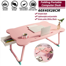 23.6x15.7x11inch Portable Folding Laptop Stand Holder Study Table Desk Wooden Computer Desk for Bed Sofa Tea Serving Table