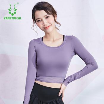 VANSYDICAL koszulka do biegania damski krótki Top odzież sportowa dla kobiet siłownia siatkowy Patchwork odzież do jogi koszulka treningowa Fitness koszulka damska tanie i dobre opinie WOMEN Wiosna Lato AUTUMN Winter Poliester Pasuje prawda na wymiar weź swój normalny rozmiar China Black Purple Pink Polyester Spandex