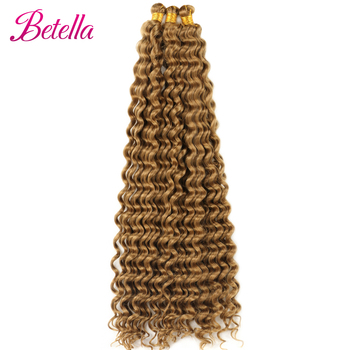Deep Water Wave Twist Crochet Hair Crochet Braid Ombre Braiding Hair Extensions Synthetic Afro Curls For Women Low Tempreture 6