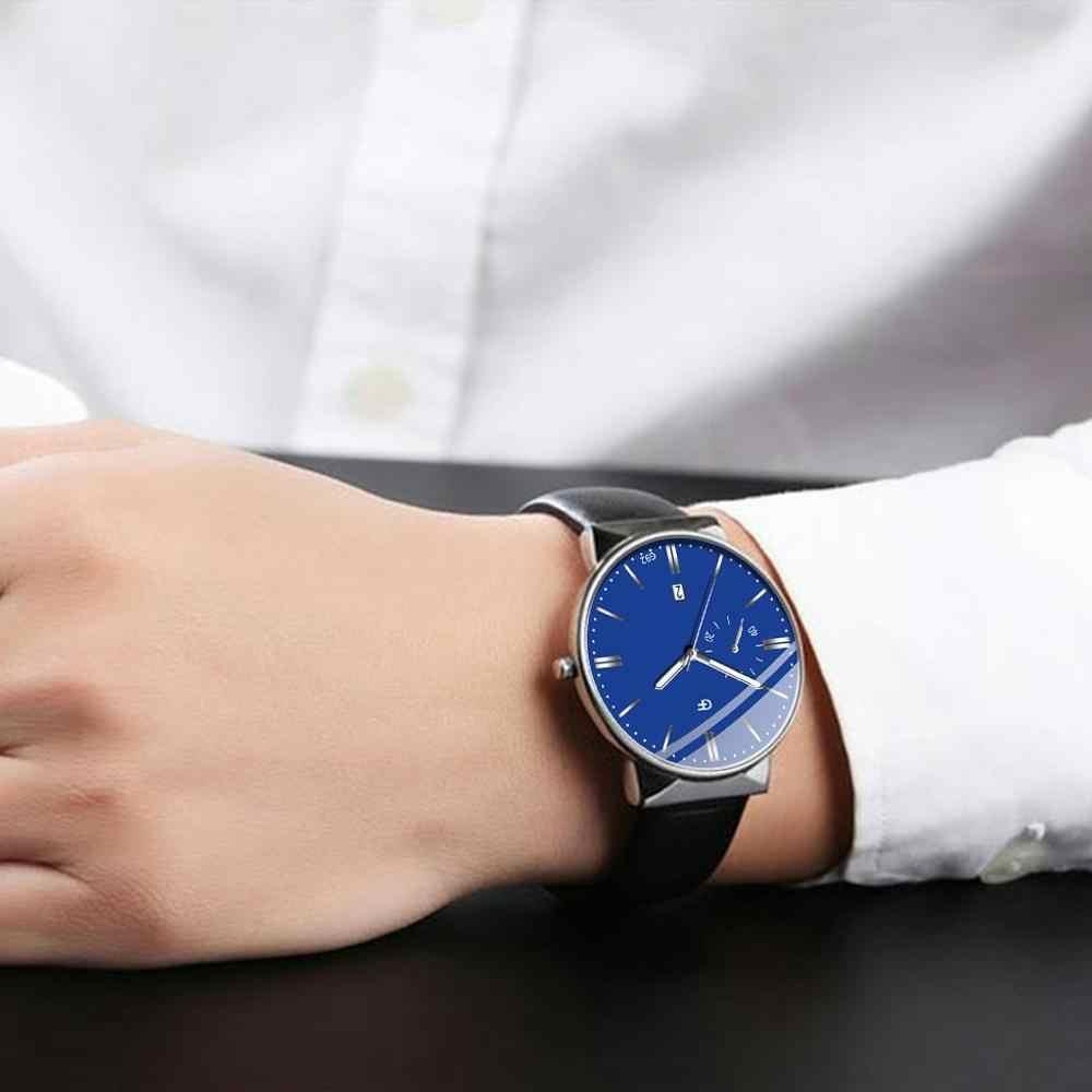 למעלה מותג מאן שעון נירוסטה ספורט אנלוגי קוורץ שעון יד יוקרה Mens עסקי relogio masculino reloj hombre Q4