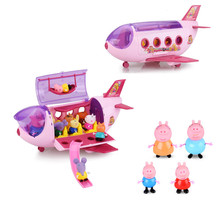цены Peppa Pig toys George pepa pig family set daddy maddy Luxury aircraft children's toy gift peppa pig house toys birthday gift