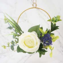 Wreath White Rose with Eucalyptus Iron Garlands Door Decoration Wedding Farmhouse Decor Christmas Decorations for Home halloween pumpkin head happy carnival decoration candy bar bunting garlands party decor wedding babyshower wreath slingers
