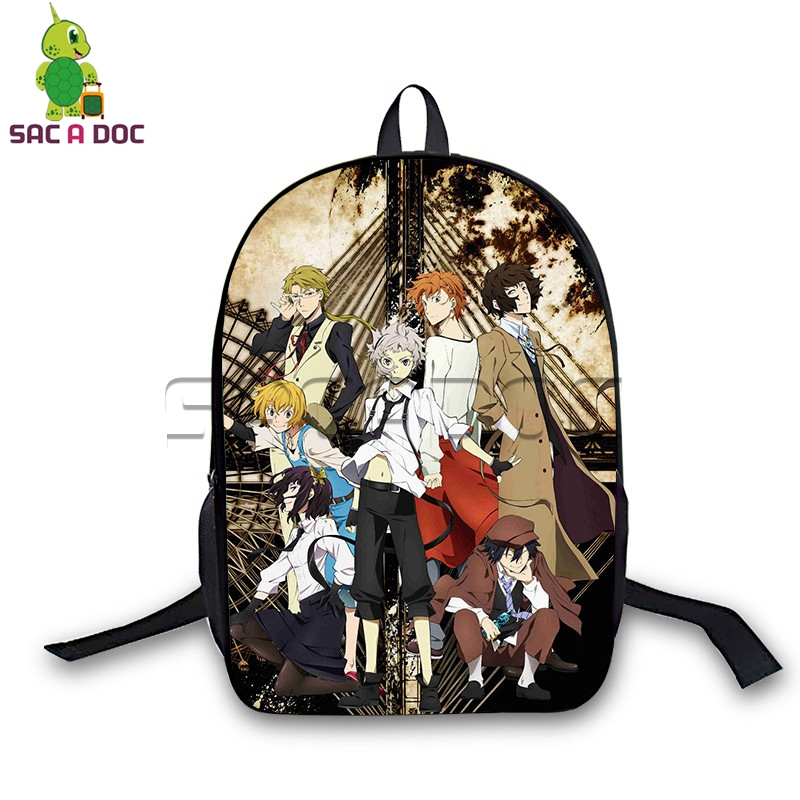 Bungou street dog backpack for teenagers boys girls school bags Atsushi Dazai Laptop students laptop travel