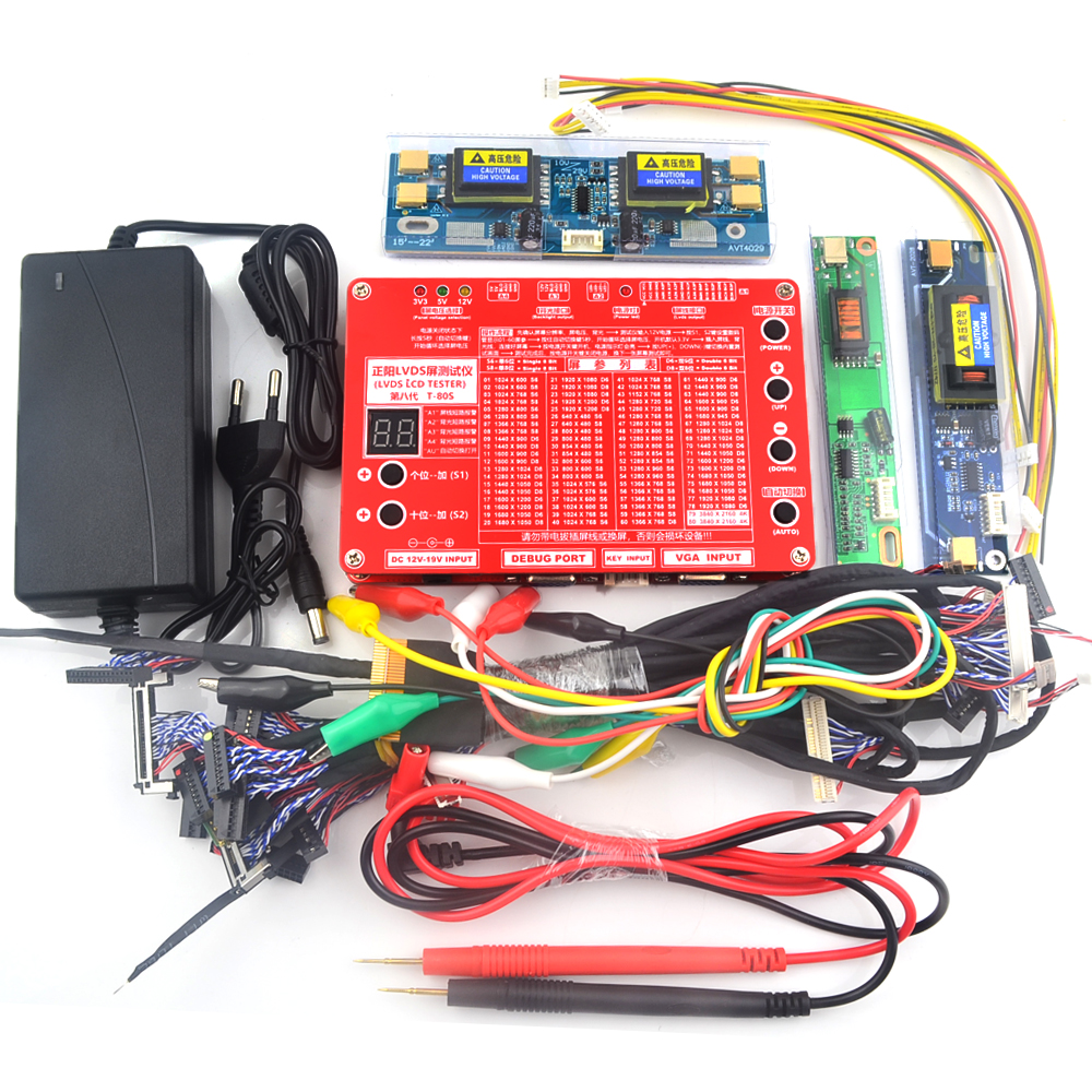 Sixth T-80S generation Laptop TV/LCD/LED TEST TOOL KIT SET LCD panel tester Support 7 -84 Inch LVDS interface 14/Screen line