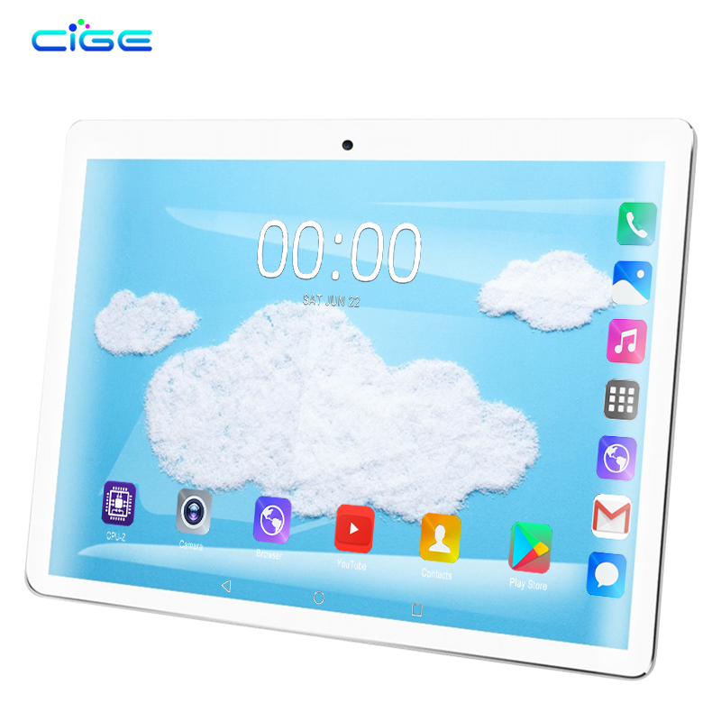 1920X1200 10.1 Inch Android 9.0 Tablet Pc 10 Core 4G Lte Phone Call Tablets 6gb Ram 64gb Rom Dual Wifi Band 2.4G 5G Dual Sim