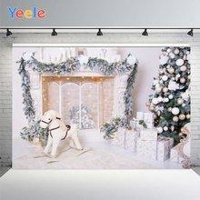 Рождественский фон для фотосъемки Фотофон с белым окном и деревьями