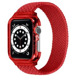 CASE + BAND Fabric Braided Solo Loop For Apple watch band 44mm 42mm 40mm 38mm iWatch Band Bracelet Apple Watch Series 4 5 se 6