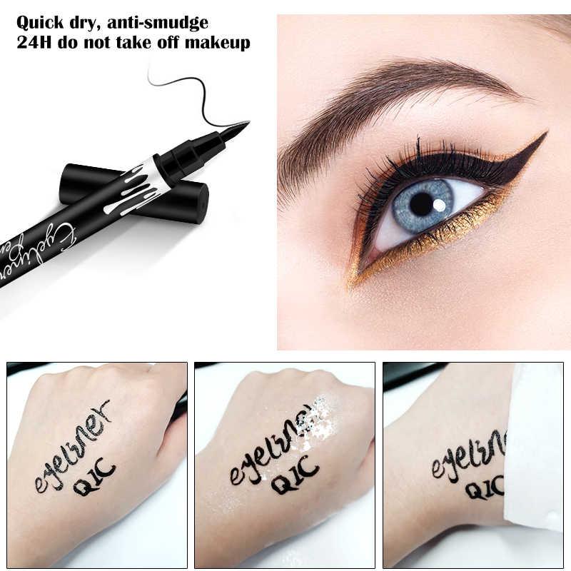液体アイライナースーパー防水黒の双頭アイ化粧品メイクアップツール
