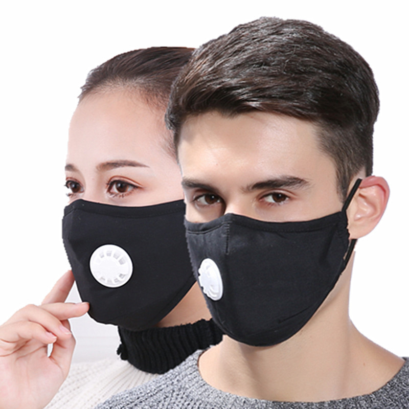 PM2.5 Anti Dust Mask Air Filter Mouth Masks Warm Respirator With Replaceable Outdoor Riding Filter Masks For Men Women Wholesale