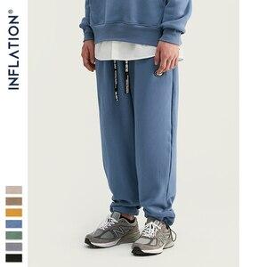 Image 1 - אינפלציה עיצוב סופר רופף Fit גברים מכנסי טרנינג בצבע טהור Loose Fit רטרו סגנון Mens מכנסי טרנינג רחוב ללבוש גברים מכנסיים 93402W