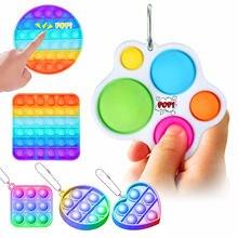 Empurrar pop bolha fidget brinquedos simples dimple brinquedos brinquedos de descompressão sensorial brinquedos educativos adulto criança crianças divertido presente jogo
