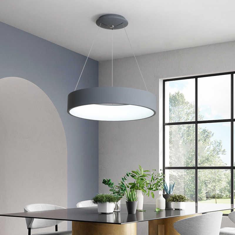 LED Modern Liontin Lampu Lampu Nyata Lampe Lamparas untuk Dapur Suspensi Luminer Modern Lampu Lampu Gantung Ruang Makan