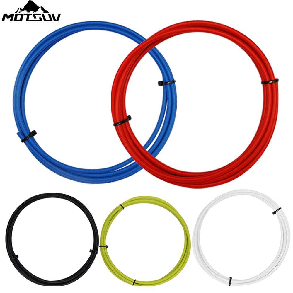 MOTSUV Bicycle Cycling Bike Shift Gear Brake Cable Core Inner Wire derailleur line control line Set Derailleur Hose End Cap Part