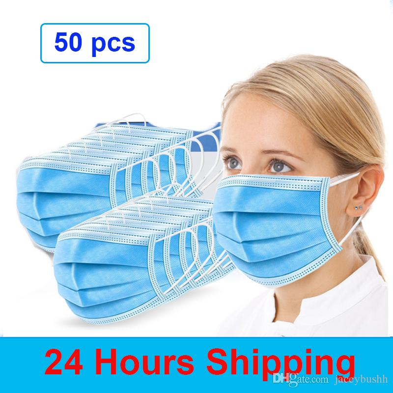 Safety 3 Layer Disposable Mask Face Mask With Filter Anti Flu Anti Virus Features As KF94 FFP2 In Stock