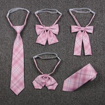 2020 Pink Jk Uniform Bow Tie Cute Japanese/korean School Accessories Bow-knot Design Knot Cravat Necktie Adjustable