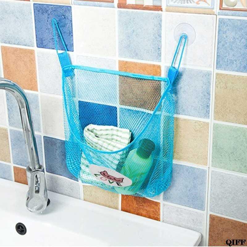 طفل أطفال الاستحمام متعة الوقت حمام حوض لعبة المنظم حقيبة التخزين صافي شفط سلال الاطفال الحمام شبكة حقيبة