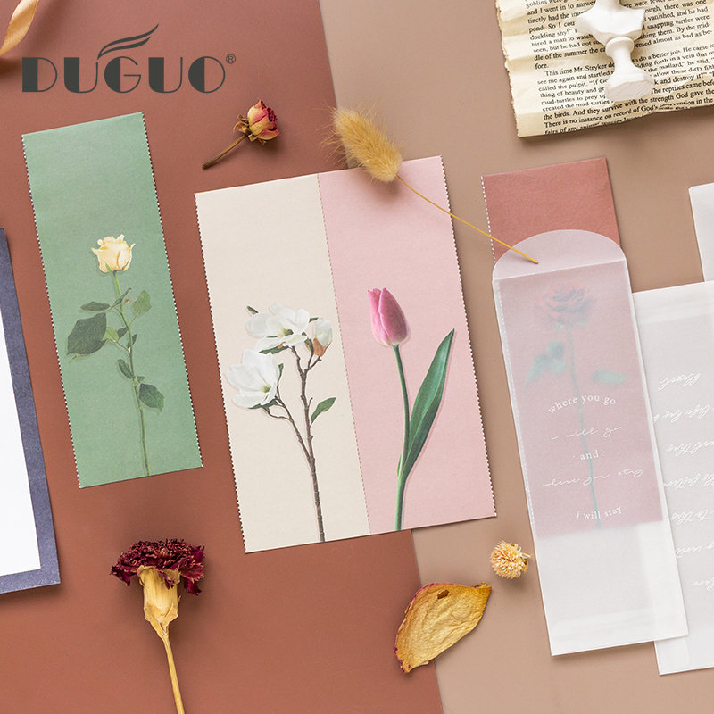 DUGUO Cute Stationery Japanese Style And Letterhead Material Paper Small Fresh Hand Account Envelope Sulfuric Acid Paper