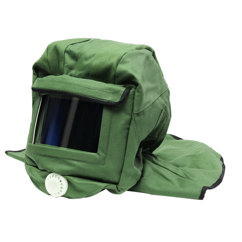 Canvas Sand Blasting Hood Cap Shawl Cap Sandblaster Mask Anti-Dust Hood Protective Gear Mask