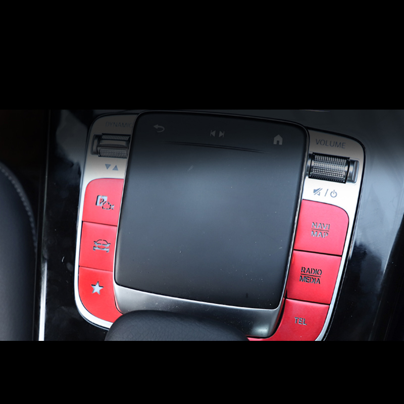 Lsrtw2017 for Mercedes Benz A Class A180 <font><b>A200</b></font> Car Mouse Gear Button Film Interior Mouldings Accessories 2019 2020 2021 w177 image