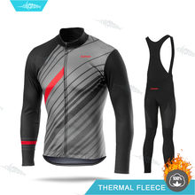 Winter Cycling Clothing Ropa Ciclismo Hombre Man Pro Team Jersey Set Thermal Fleece Long Sleeve Clothes Biking Uniform Warm Kit(China)