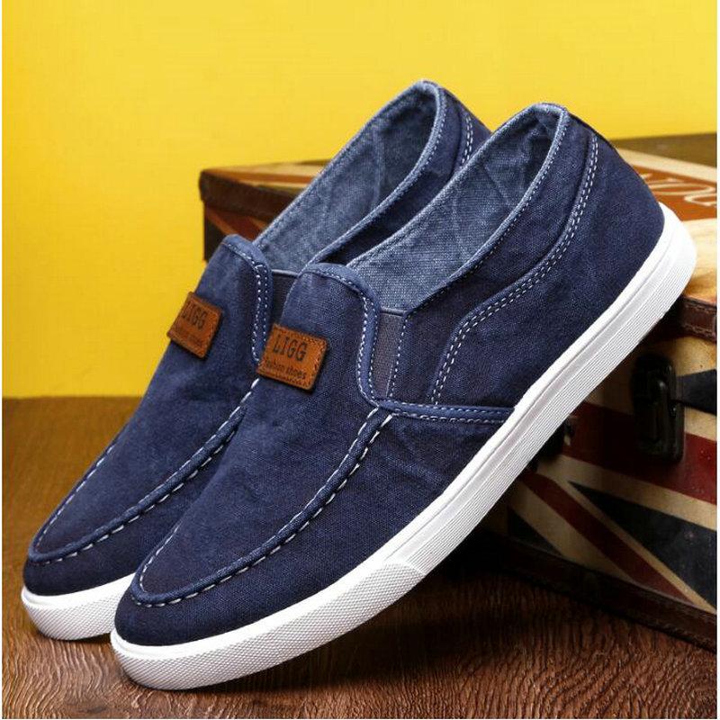 Summer Outdoor Solid Footwear Vulcanize Shoes Comfortable Men's Flats Canvas Shoes Men Denim Cloth Casual Shoes 559
