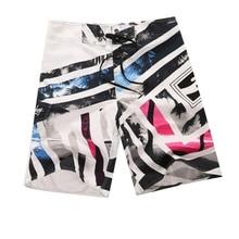 Beach-Shorts Swimming-Trunks Men Elastic-Waist Male Summer Fashion for Breathable Casual