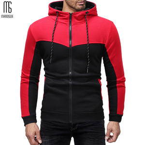 Image 2 - Manoswe Classic Colorblock Drawstring Design Mens Casual Hooded Sports Suit New Autumn & Winter Pockets Oversize 3XL Hoodie