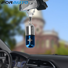 Air Freshener Car Hanging Perfume Pendant Empty Capsule Bottle for Essential Oils Diffuser Fragrance Ornaments Car-styling