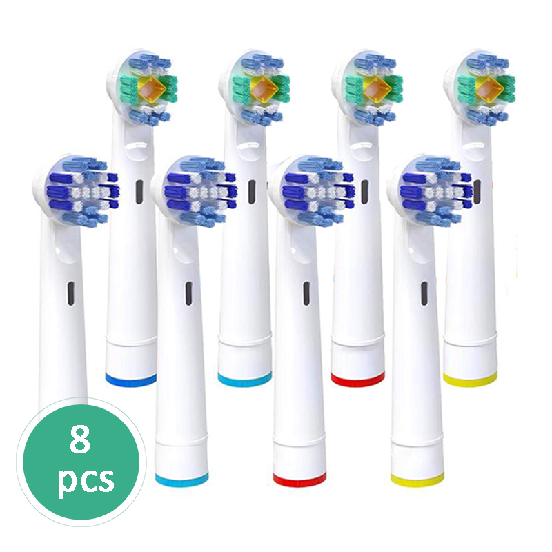 8PCS or 16 pcs For Braun Oral B Vitality Replacement Electric Toothbrush Heads,Precision Clean,Floss Action,Cross Action image