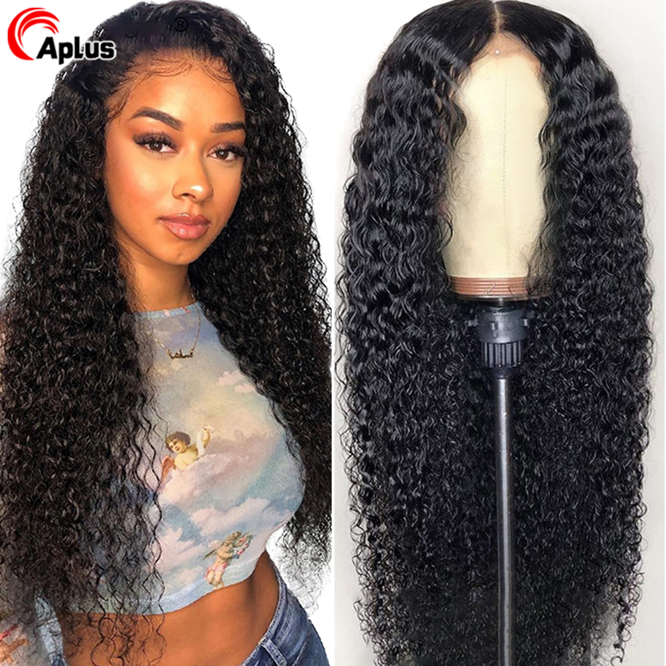 Mongolian Hair Kinky Curly Wig Glueless 30inch Long Wig 13x4 13x6 360 Transparent Lace Front Human Hair Wigs 150% 180% Density