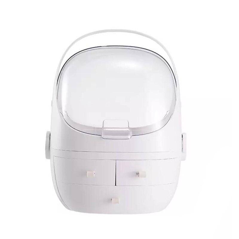 Makeup Storage Box Drawer Type Desktop Dustproof Transparent Window Cosmetic Organizer Case P7Ding