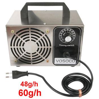 Generator ozonu 60g Generator ozonu oczyszczacz powietrza ze stali nierdzewnej filtr powietrza dezynfekcja sterylizacja z zegarem 220V 110V tanie i dobre opinie VOSOCO 50m³ h CN (pochodzenie) 100 w 220 v 28g h 36g h 48g h 12g h 60g h 41-60 ㎡ 99 20 Źródło A C 98 00 inny ≤30dB