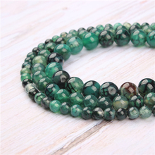 Green Dragon Agate Natural Stone Beads For Jewelry Making Diy Bracelet Necklace 4/6/8/10/12 mm Wholesale Strand