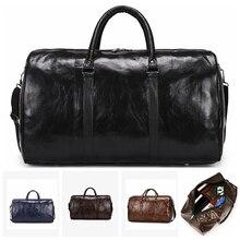 Leather Travel Bag Large Duffle Independent Big Fitness Bags Handbag Bag Luggage Shoulder Bag Black Men Fashion Zipper Pu