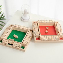Strategy Puzzle Cube High-Quality Universal Portable 4 Sided Wooden Board Education Number Game Adults Kids Party Bar Dice Game